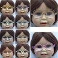 """1 шт. круглые Круглые очки красочные очки солнцезащитные очки подходит для 18 """"american girl куклы"""