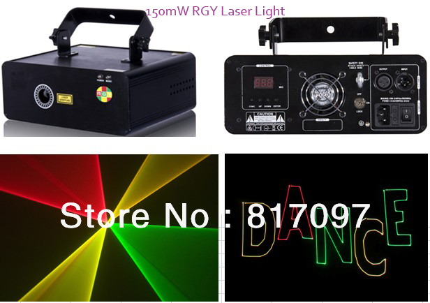Wholesale 150mW RGY Tri-Color Show Laser Animated Laser Light Scanner 10KPPS 100mW Red 650nm 50mW Green Laser Diode kam xy laser rgy
