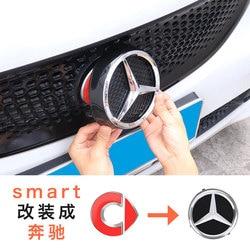 Per Mercedes smart fortwo 453 fronte fronte netto logo adesivi per auto di coda adesivi per auto auto accessori esterni per lo styling adesivi per auto