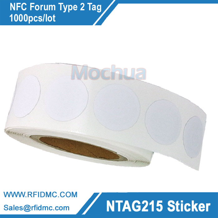 Ntag215 Sticker NTAG215 Label NFC Sticker NFC forum Type 2 tag ntag215 sticker ntag215 label nfc sticker ntag215 tag for tagmo