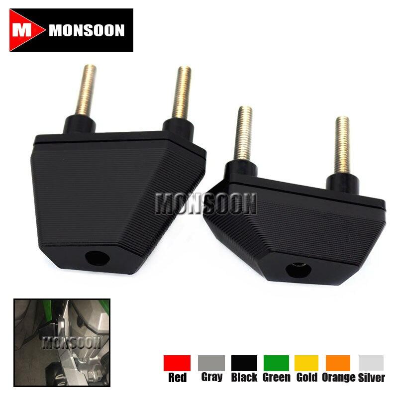 For Kawasaki Z750 07-14 Z800 13-15 Z1000 07-09 Motorcycle Accessories CNC Frame Sliders Crash Protector Black