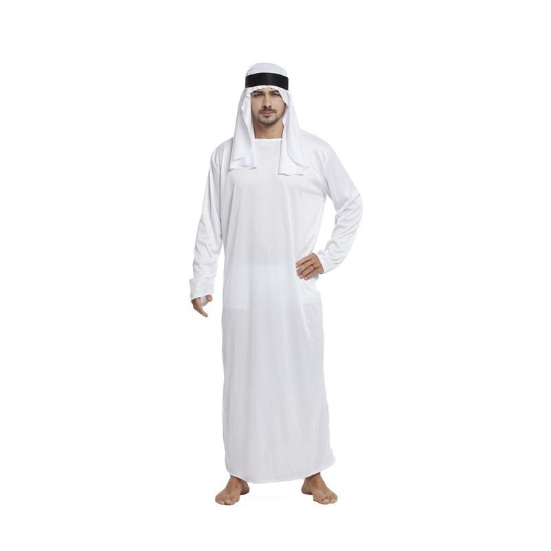 Fantasia Adulto Prince Arabian Arab Costume Men Middle East Ali Baba Sheik Costumes Halloween Purim Carnival Cosplay Outfits