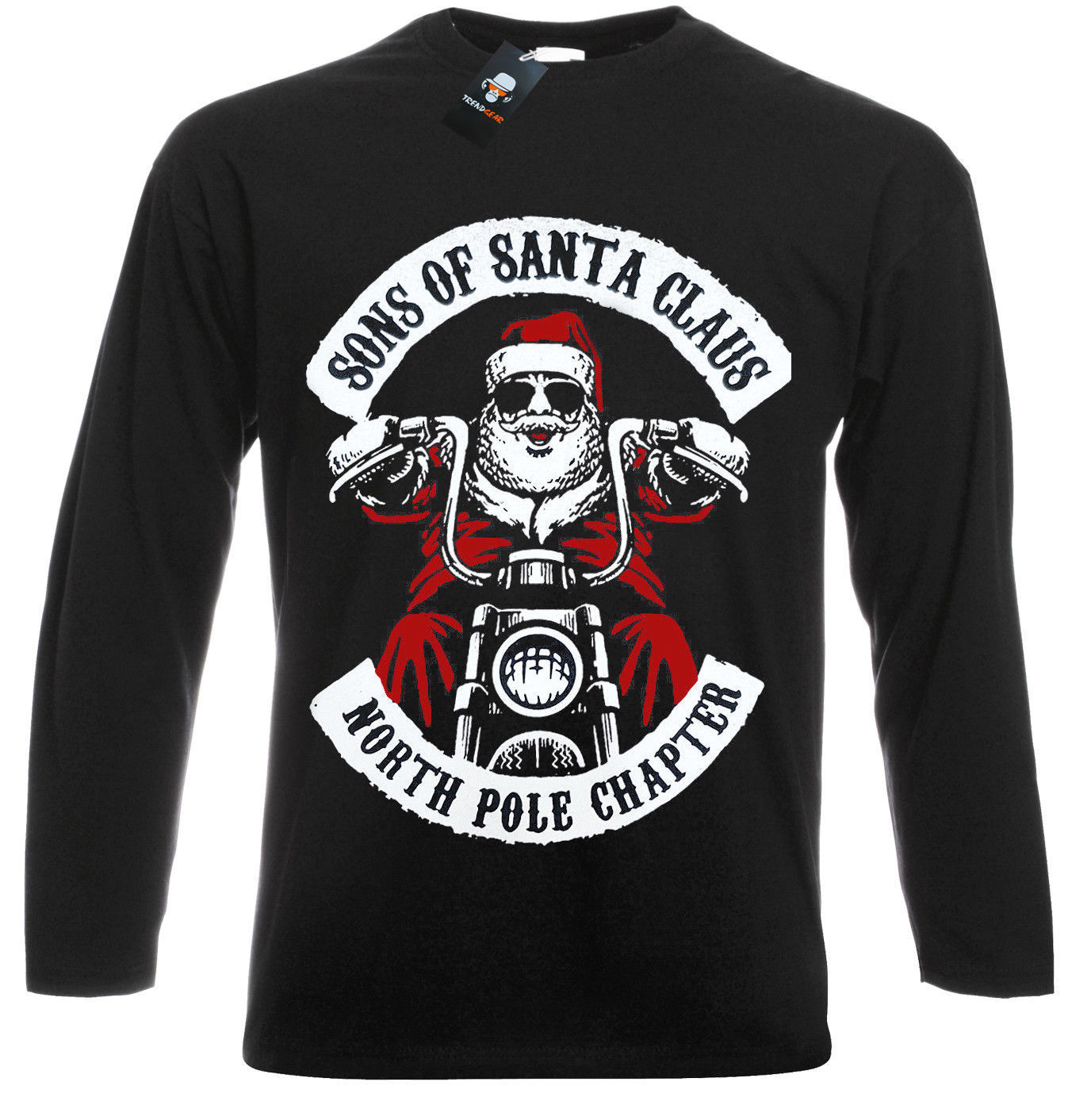 Sons Of Santa Long Sleeve T Shirt/Funny/Biker/Decembeard/Fancy/Christmas/Gift