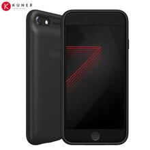 Banco de la energía para apple iphone 7 batería caso kuke kuner original slim 2400 mah ultra thin de copia de seguridad de almacenamiento extendido max 256 gb