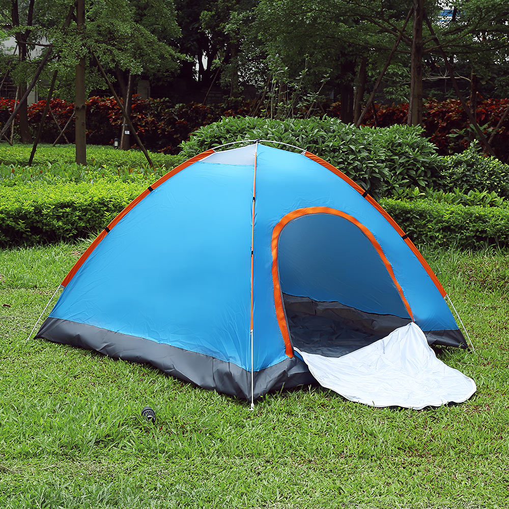 SHENGYUAN Outdoor Water Resistant Automatic Instant Setup Two Doors 3 4 Person C&ing Tent With Canopy-in Tents from Sports u0026 Entertainment on ... & SHENGYUAN Outdoor Water Resistant Automatic Instant Setup Two ...