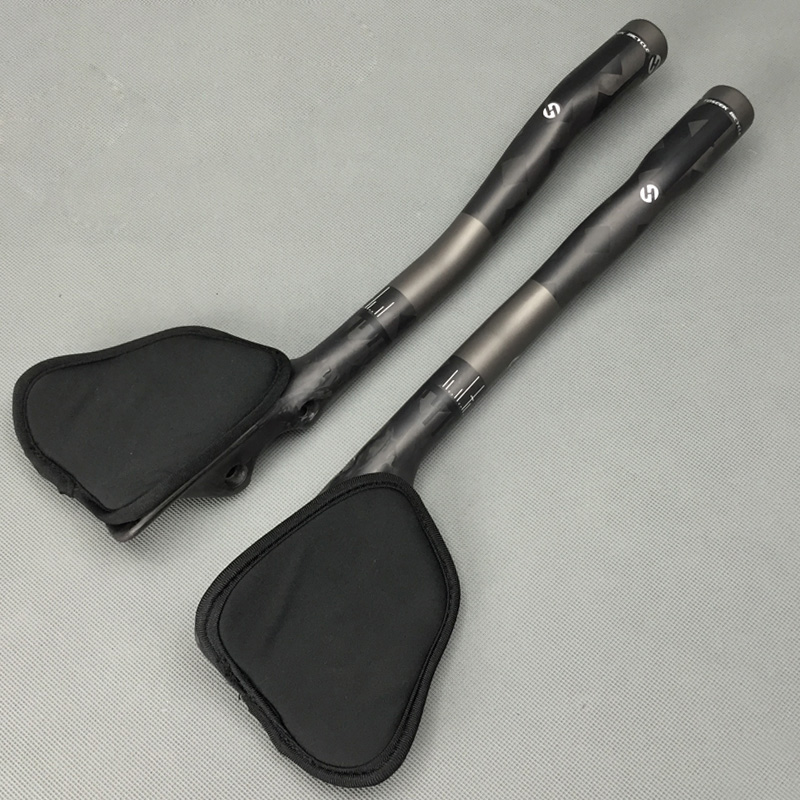 New TOSEEK 12 K Serat Karbon Penuh Stang Sepeda TT 1 Pair Road Rest Handlebar MTB Sepeda Sepeda Handlebar 31.8mm TT Bar