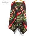 Jzhifiyer YX102 Moda Cachecol de Inverno Com Capuz Cashmere Como Xale Envoltório Ponchos e Capas Das Mulheres