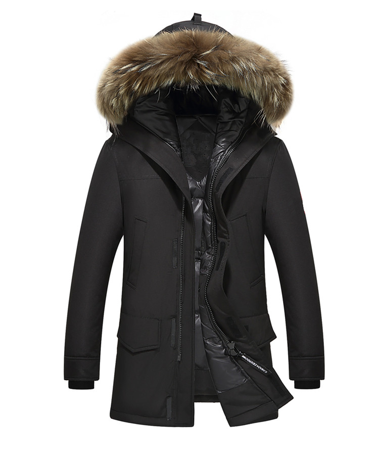 Top Quality Men  Parka Jacket Coat 2017 New Winter Brand Fashion Thick Warm Overcoat Man hooded raccoon fur goose  jacket 2016 new high quality brand men winter cotton down jacket coat parka clothing men and women hooded warm outerwear overcoat