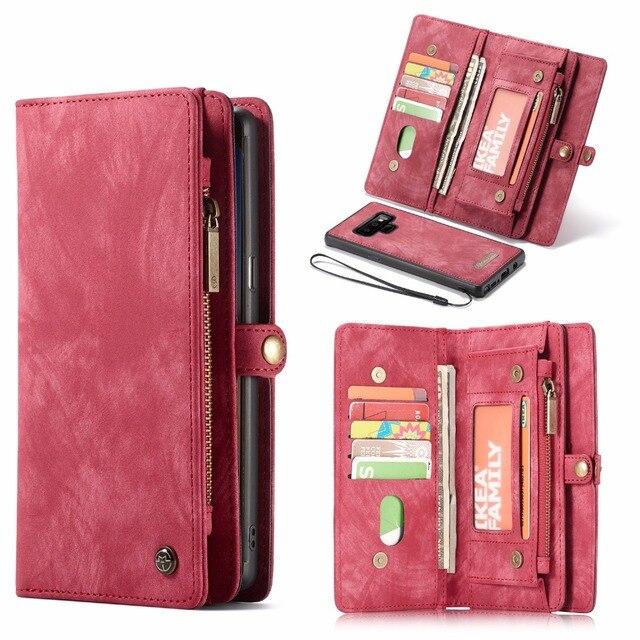 CaseMe Cassa del Cuoio di Vibrazione Per Samsung Nota 8 9 10 S8 S9 S10 Più S20 A30 A40 A50 A70 A51 multi funzionale Magnetica Casse Del Telefono