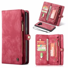 CaseMe Leather Flip Case For Samsung  Note 8 9 10 S8 S9 S10 Plus S20 A30 A40 A50 A70 A51 Multi functional Magnetic Phone Cases