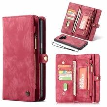 Caseme Leather Flip Case Voor Samsung Note 8 9 10 S8 S9 S10 Plus S20 A30 A40 A50 A70 A51 multi Functionele Magnetische Telefoon Gevallen