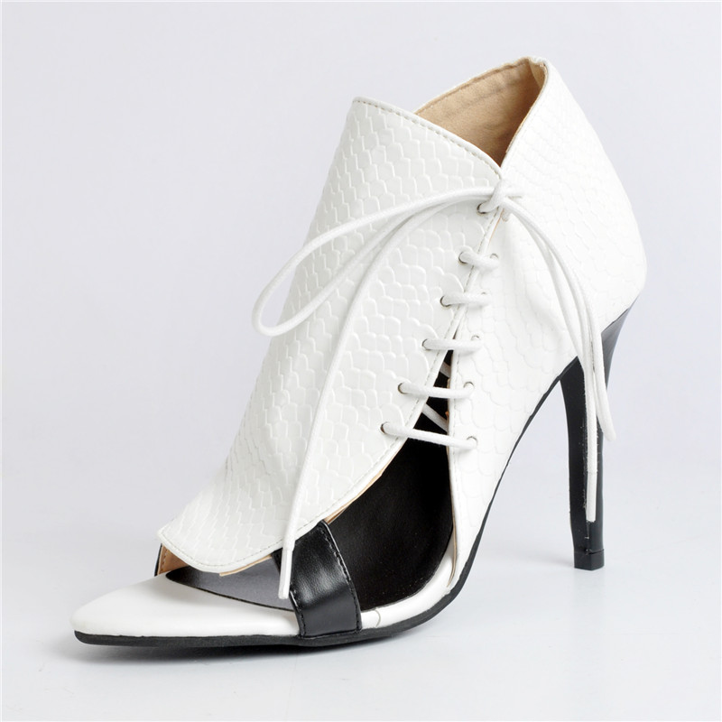 2019 Fashion Sandals Female Lace-up Stiletto Heels White Pointed Toe Womens Shoes Leather Open Toe Sexy Zapatos De Mujer2019 Fashion Sandals Female Lace-up Stiletto Heels White Pointed Toe Womens Shoes Leather Open Toe Sexy Zapatos De Mujer