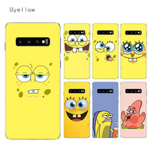 Uyellow SpongeBob SquarePants TPU Case For Samsung S6 S7 S8 S9 S10 S10E Plus J4 J6 J8 A6 A7 A8 A9 2018 Note 8 9 Cover Coque
