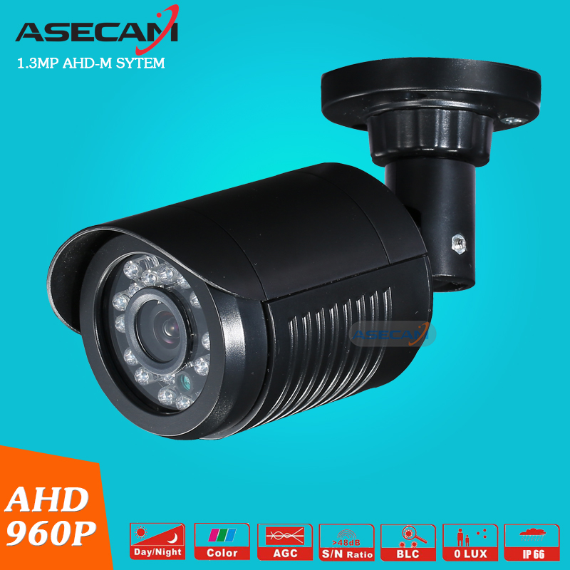 free shipping 1 4mp ahd hd 960p cctv camera 2500tvl outdoor mini 24led night vision infrared metal bullet security surveillance New Product AHD 960P CCTV Camera Mini Black Indoor Bullet 24LED Infrared Night Vision Security Surveillance System