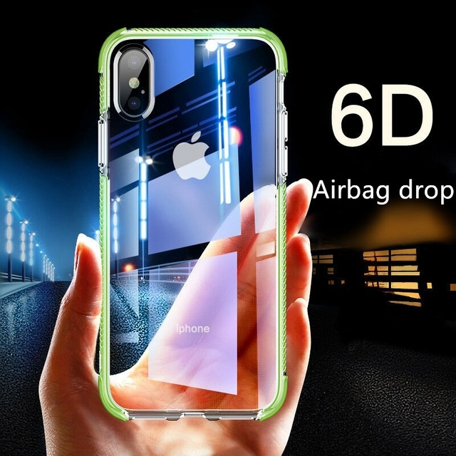 6D Gasbag DropProof Soft Clear Case for iphone XS MAX XR 7 8 Plus 6 6s X Full Body Protect TPU Cover For Samsung Galaxy S9 Plus
