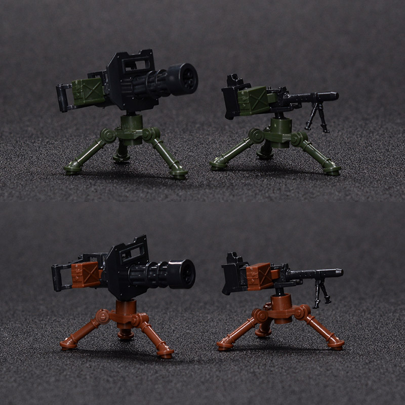 4 шт. военное оружие блок город АРМИЯ SWAT пушки Гатлинга Мини Строительные блоки, совместимые Legoings DIY игрушка для малышей
