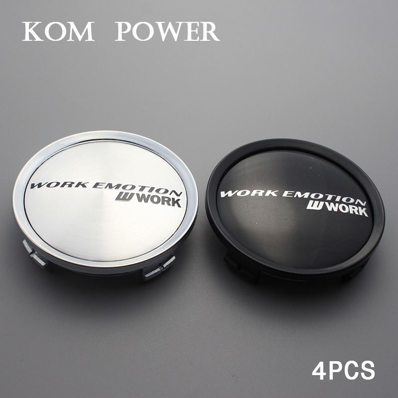 "H3 Honda Brushed Aluminum Black Logo 69 MM // 2.75/"" 4 Pcs Wheel Center Cap"