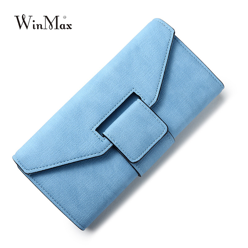 New Design Leather Wallets Women Luxury Brand Woman Wallet Long Hasp Female Purse 2 folder Card Holder Clutch Feminina Carteira