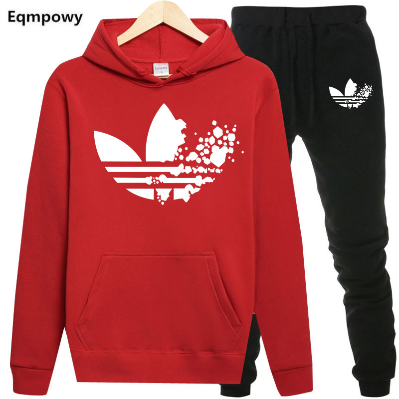 Adi Males Tracksuits Outwear Hoodies Sportwear Units Male Sweatshirts Cardigan Males Set Clothes+Sweatpants Pants Plus Dimension