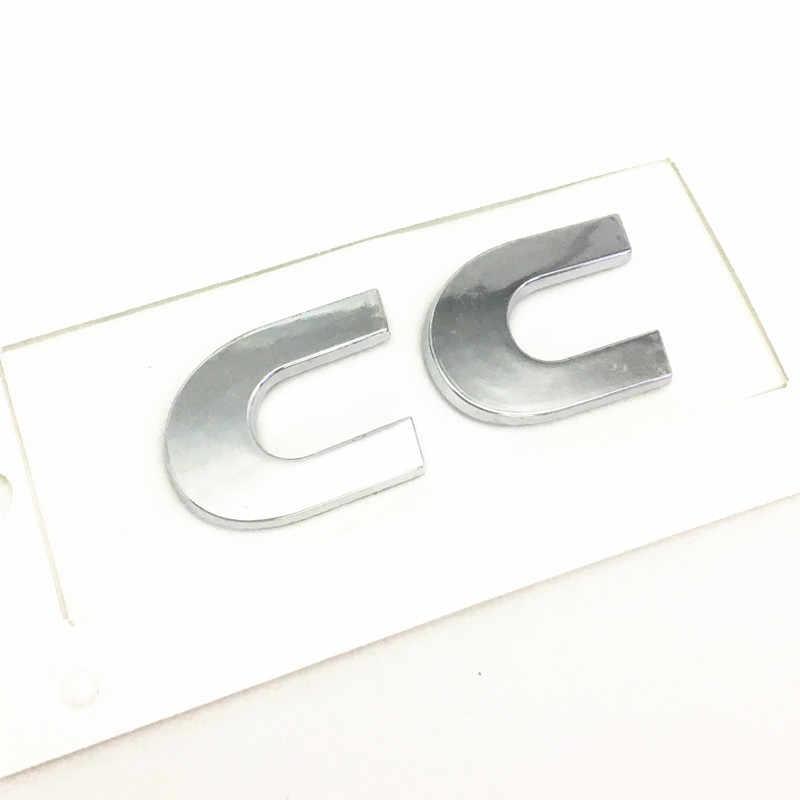Voiture style noir argent lettre tronc plaqué mots décalque Badge emblème autocollant accessoires pour cc auto