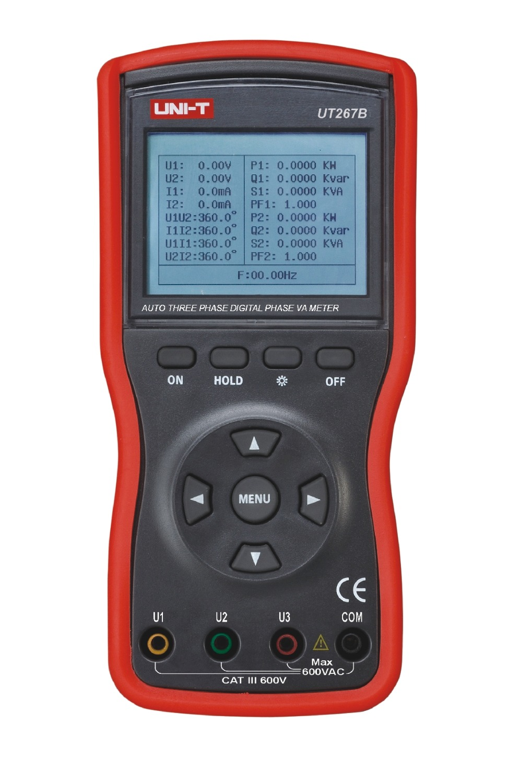 Uni t UT267B Auto 3 trifasico fase Digital de metros metros de Voltammeter av w teste de fase in Multimeters from Tools