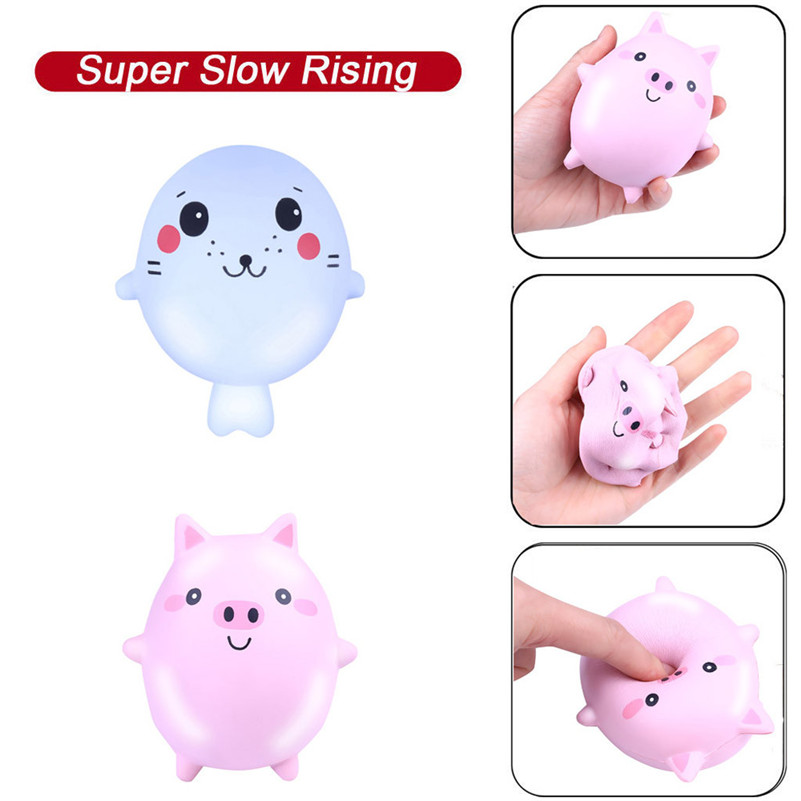 Squishies Adorable Animals Slow Rising Cream Squeeze Scented Stress Relf Rising Scented Kawaii Stationery Wipes Anti-stress D4