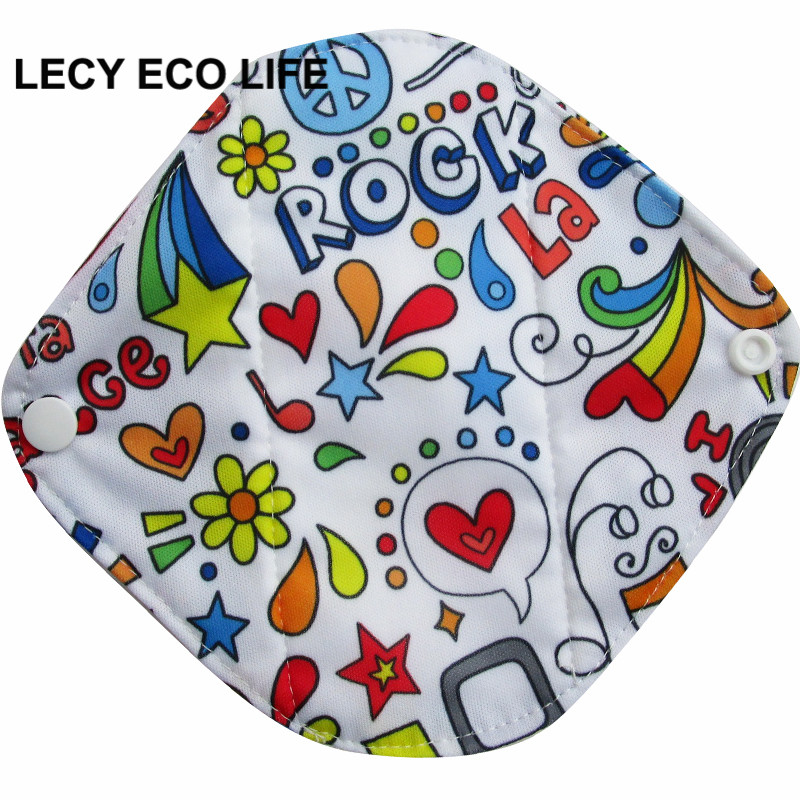 LECY ECO LIFE Health Feminine Hygiene bamboo Panty Liner Reusable Waterproof Bamboo Material Menstrual Cloth Sanitary Pads [mumsbest] 10pcs bamboo cotton washable cloth maternity pads menstrual reusable sanitary pads napkin waterproof panty liners