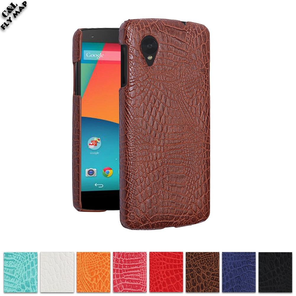 Крокодил чехол для LG Nexus 5 D820 D821 Жесткий ПК Защитный чехол Коке для Google Nexus5 5th D 820 821 кожа оболочки мешок