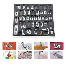 42Pcs For Brother Singer Janom Multifunction Domestic Sewing Machine Braiding Blind Stitch Darning Presser Foot Feet Kit Set