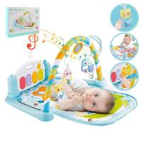 0 12Months Baby Play Carpet Mat Fitness Bodybuilding Set Toy Frame Pedal Piano Music Carpet Gym Kick Play Lay Sit Toy For Babies