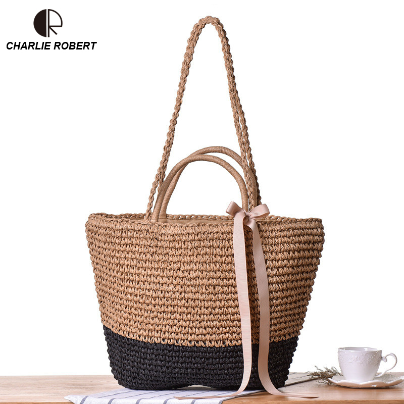 2019 Straw Bags Women New Summer Rattan Casual Tote Solid Shoulder Bags Handmade Woven Hollow Out Bags Beach Bohemia Bali Box2019 Straw Bags Women New Summer Rattan Casual Tote Solid Shoulder Bags Handmade Woven Hollow Out Bags Beach Bohemia Bali Box