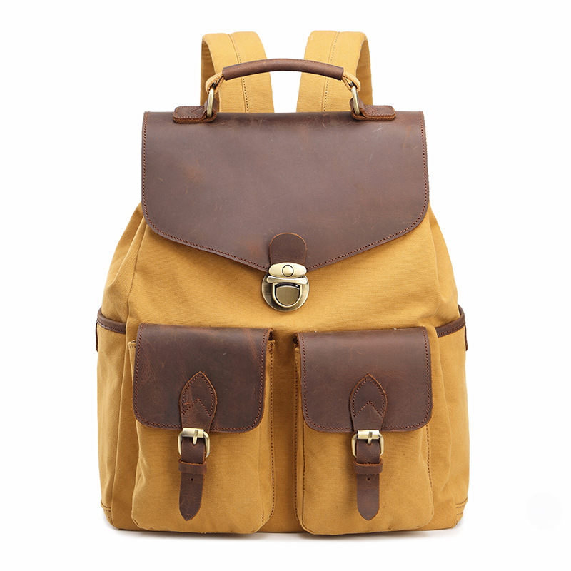 M168 Fashion Backpack Leather Canvas men backpack School Bag Military Backpack Women Rucksack male Knapsack Bagpack mochila New new shark backpack women black bookbags mochila colegio fashion primary school backpacks cartoon boys rucksack men bagpack bolsa