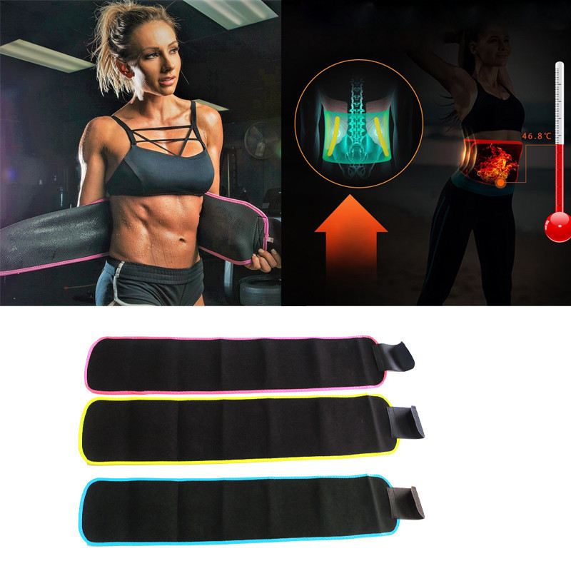 Adjustable Waist Trimmer Belt Sweat Wrap Tummy Stomach Weight Loss Fat Slimming Exercise Belly Body Beauty Waist Support