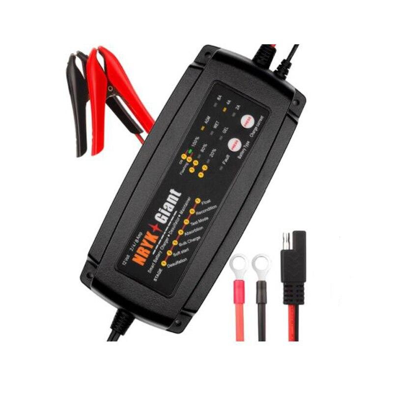 12 v Batterie Chargeur 2A 4A 8A 7-Scène Intelligent Bateau RV Voiture Batterie Chargeur Responsable et Desulfator pour 6-160AH AGM GEL HUMIDE Batterie