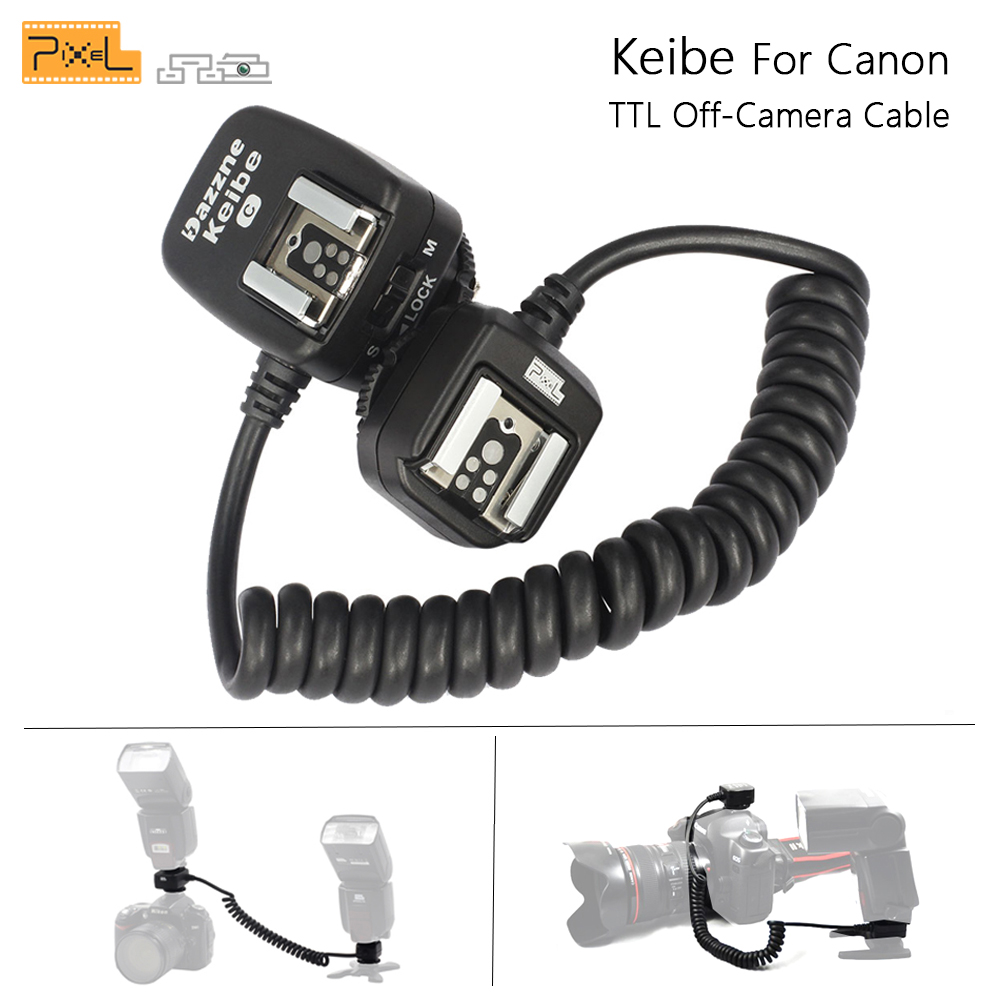 Pixel Keibe 1m/3.6m Cord TTL Off Camera Flash Hot Shoe Sync Flashgun Cable For