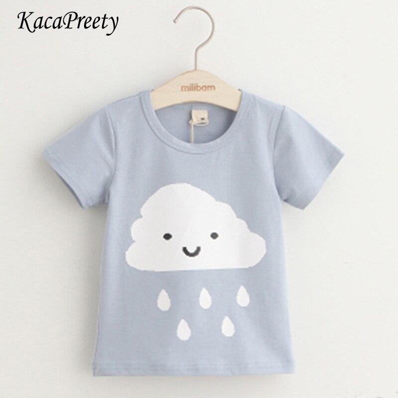 Boys T-Shirts Tops Short-Sleeve Toddler Little Cotton Cartoon Summer O-Neck 2-10yrs