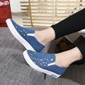 High Quality Women's Jeans Shoes flats Fashion Casual Denim Shoes Soft Soles Students Canvas Shoes Breathable Shoe New Z012