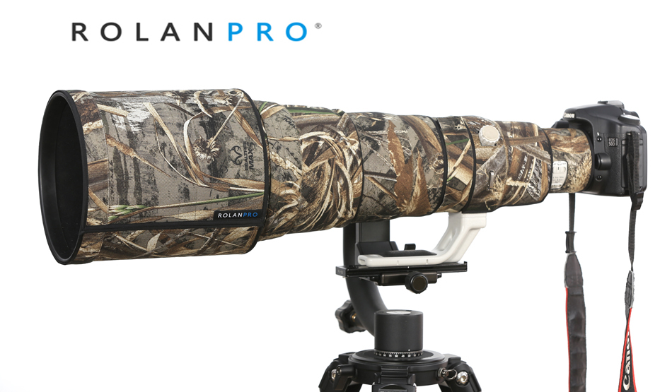ROLANPRO Nylon Waterproof Camouflage Camera Coat for Canon EF 600mm F 4 L IS II USM