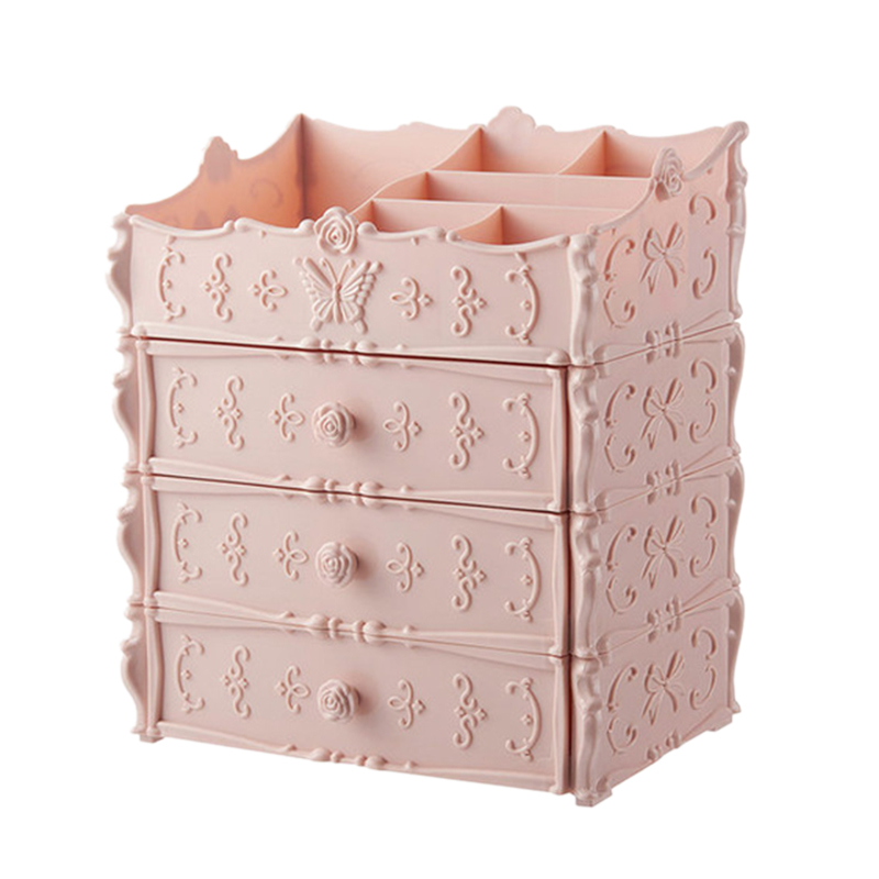 HTB1Uan7afvsK1Rjy0Fiq6zwtXXak - Plastic Cosmetic Drawer Container Makeup Organizer Box