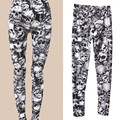 Women's Skull Print Pattern Skinny Slim Fit Pants Stretchy Leggings New