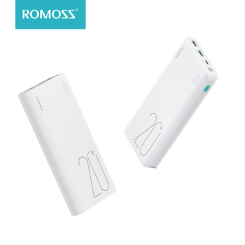 Original ROMOSS Sense 6+ Power Bank 20000mAh Portable External Battery With QC3.0 Two-way Fast Charging For Phones Tablet