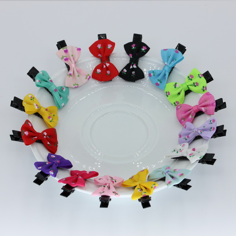 4cm isnice 30pcs Hair clips Floral barrettes, New 2017 headwear ornament for hair accessories halloween party zombie skull skeleton hand bone claw hairpin punk hair clip for women girl hair accessories headwear 1 pcs