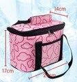 2015 HOT 24 * 14 * 17 cm almoço quente saco térmico para o verão Ice Cooler Bag Case & rosa, Preto