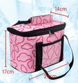 2015 HOT 24*14*17cm Lunch warmer Insulated Bag for  Summer Ice Cooler bag Case & Pink,Black