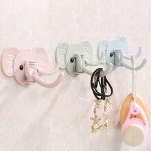 Нос слона, 3 крючка, настенная вешалка, самоклеющиеся крючки, дверная настенная вешалка, органайзер, полотенце, держатель для ванной и кухни, Органайзер