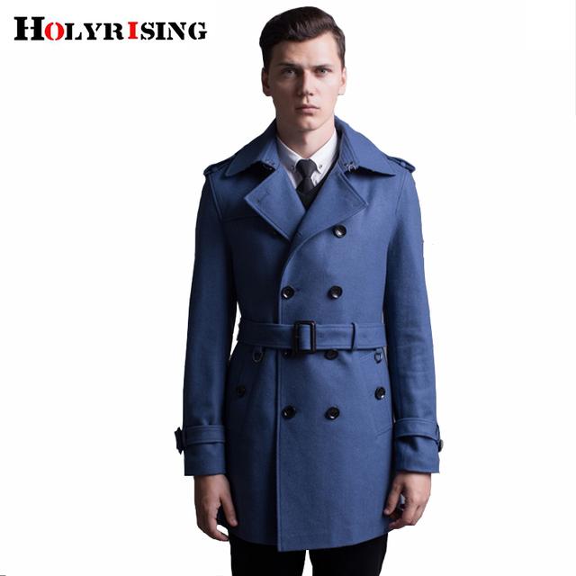 casaco masculino Europe Style Men Wool Coats Winter Casual Windbreaker Slim fit Men Woolen Coat S-6XL size #18070 holyrising