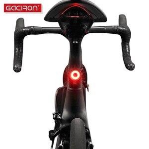 Gaciron велосипед задний фонарь Водонепроницаемый для верховой езды задний фонарь светодиодный USB Перезаряжаемые Road Велоспорт свет хвост-ламп...