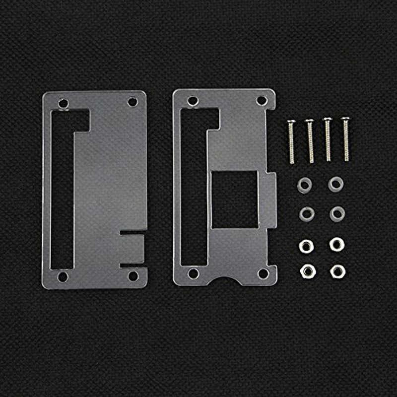 Dla Raspberry Pi zera W przypadku obudowa akrylowa + aluminium radiator dla RPI zera obudowa przypadkach dla Raspberry pi Zero V 1.3 pokładzie