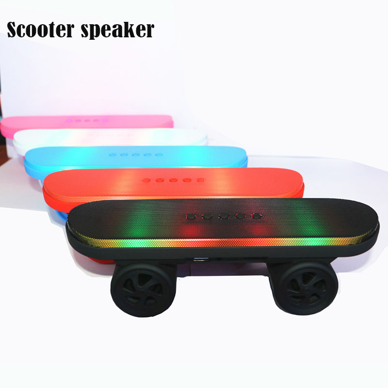 New Scooter Wireless Bluetooth Speaker For Phone Handsfree Megaphone Portable FM Radio TF Card Sound Box Laptop PC USB Subwoofer