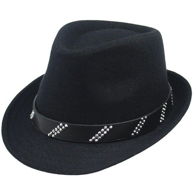 New Gentleman High-end Vintage Autumn Winter Hat for Men and Women  Artificial Wool Jazz f8bd98c0ff0